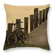 The Beach Comber Throw Pillow