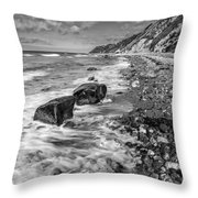 The Beach. Throw Pillow