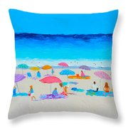 The Beach Holiday Throw Pillow