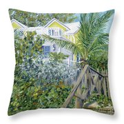 The Beach House Throw Pillow