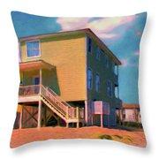 The Beach House Throw Pillow