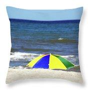 The Beach Is Mine Throw Pillow