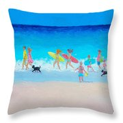 The Beach Parade Throw Pillow