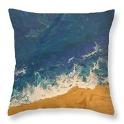The Beach - Tac Throw Pillow