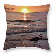 The Beachcomber Shuffle Throw Pillow