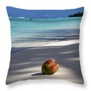 The Beaches Of Rarotonga Throw Pillow