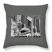 The Bean - 2 Throw Pillow