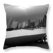The Bean B-w Throw Pillow