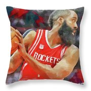 The Beard Throw Pillow