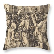 The Bearing Of The Cross With Saint Veronica Throw Pillow