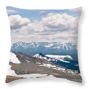 The Beartooth Mountains Throw Pillow