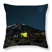 The Beast In The Night Throw Pillow