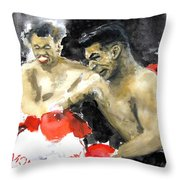 The Beast In The Ring Throw Pillow