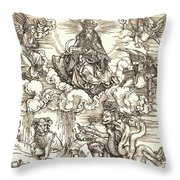 The Beast With Two Horns Like A Lamb Throw Pillow