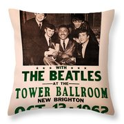 The Beatles And Little Richard Poster Collection 6 Throw Pillow
