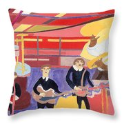 The Beatles And Louis Armstrong Throw Pillow