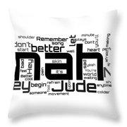 The Beatles - Hey Jude Lyrical Cloud Throw Pillow