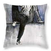 The Beatles John Lennon Reflection Throw Pillow by Yuriy  Shevchuk