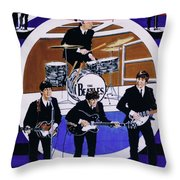 The Beatles - Live On The Ed Sullivan Show Throw Pillow
