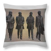 The Beatles Throw Pillow