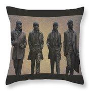 The Beatles N F Throw Pillow