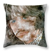 The Beatles Ringo Starr Throw Pillow