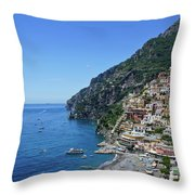 The Beautiful And Famous Amalfi Coast Throw Pillow