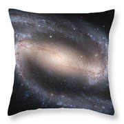The Beautiful Barred Spiral Galaxy Ngc 1300 Throw Pillow