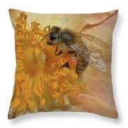The Beautiful Bee Throw Pillow