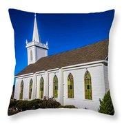 The Beautiful Bodega Church St. Teresas Of Avila  Throw Pillow