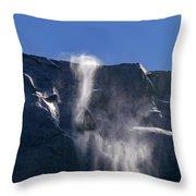 The Beautiful Bridalveil Falls Of Yosemite Throw Pillow