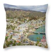 The Beautiful Catalina Island Throw Pillow