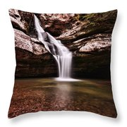 The Beautiful Cedar Falls Throw Pillow