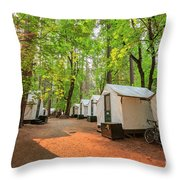The Beautiful Half Dome Village Throw Pillow