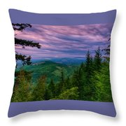 The Beautiful Olympic Mountains At Dawn - Olympic National Park, Washington Throw Pillow