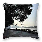 The Beautiful Pearl River Throw Pillow