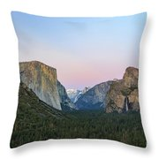 The Beautiful Tunnel View Of Yosemite Throw Pillow