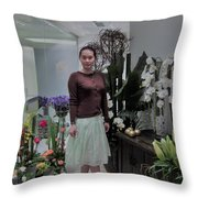 The Beautiful Young Woman Throw Pillow