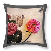 The Beauty Of A Dried Rose Throw Pillow
