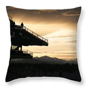 The Beauty Of Baseball In Colorado Throw Pillow