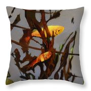 The Beauty Of Goldfish Throw Pillow