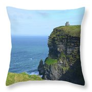 The Beauty Of Ire'land's Cliff's Of Moher In County Clare Throw Pillow