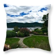 The Beauty Of Lake George Throw Pillow