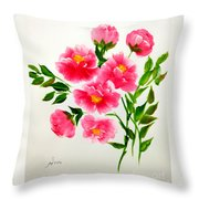 The Beauty Of Peonies Throw Pillow