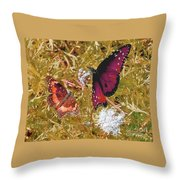 The Beauty Of Sharing - Gold Throw Pillow