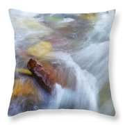 The Beauty Of Silky Water Throw Pillow