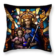 The Beauty Of Stained Glass Throw Pillow by Myrna Migala