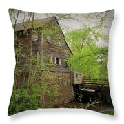 The Beauty Of The West Point On The Eno Grist Mill - Durham, N.c. Throw Pillow