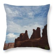 The Beauty Of Utah Arches Throw Pillow