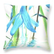 The Beauty Of Watery Reflection Throw Pillow